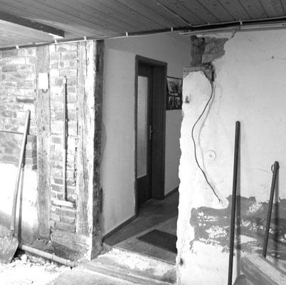 Ein ehemaliger Durchgang vom Haus in den Stall wurde wieder geöffnet