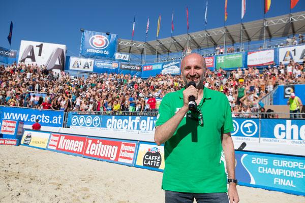 Moderator der Beachvolleyball-Turniere in Klagenfurt von 1997 bis 2016