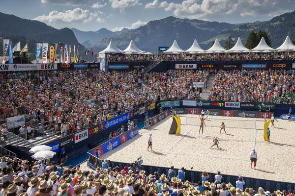 Gstaad 2019 - Beachvolleyball auf über 1.000 m Seehöhe