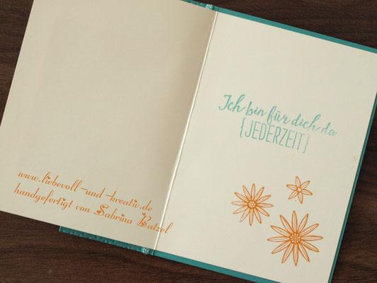 """Karte """" Du bist so wundervoll"""" mit Stampin'Up, Stempelset So dankbar, Ich bin für dich da (jederzeit)"""