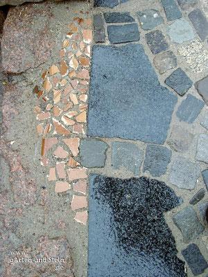 Natursteinpflaster - polierter Granit