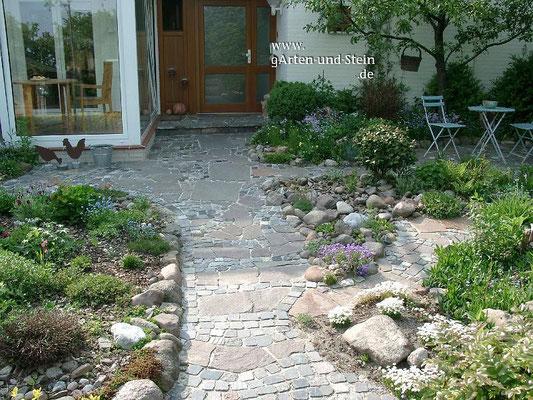 Natursteinpflaster - Porphyr Eingang