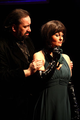 "Lady Macbeth/Hal in ""Banquo's Bankett"", 2010 © Bettina Frenzel"