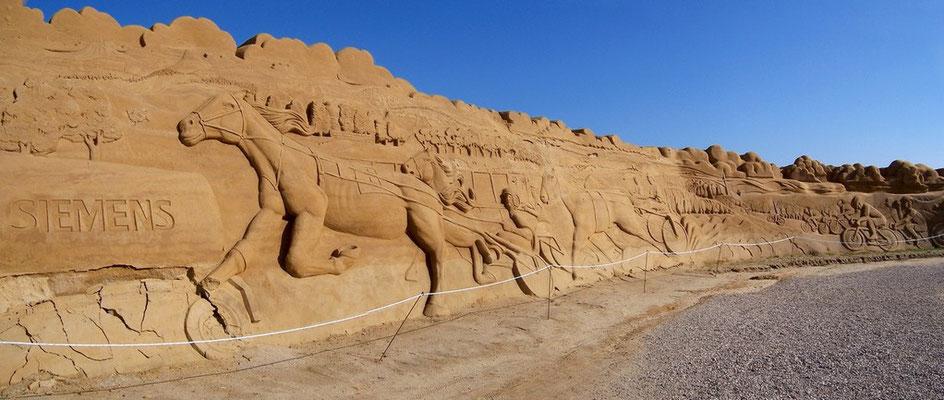 Sandskulpturen in Søndervig / DK