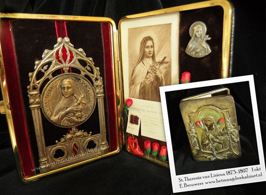 Reliekhouder St. Theresia van Lisieux www.hetmaagdenkabinet.nl