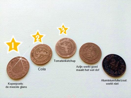 Oude munten reinigen