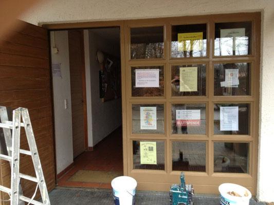 Fenster- und Türelement fertig beschichtet im Spritzverfahren