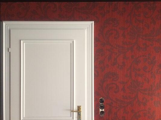 designertapete Textil rot01