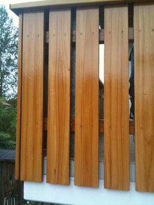 Holzaufhellung, Pinselmasierierunhg, hoher UV-Schutz, lösemittelbasiert