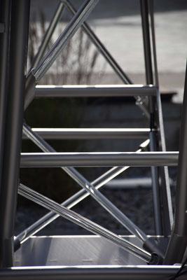 Impressionen und erste Einblicke in den Zwischenraum der Brunnenskulptur © Foto 2021 Ulrike Wintersteiger