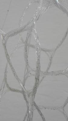 Detailansicht der Verknüpfung von 40 - 50 Glasfasern © Juliane Leitner 2016