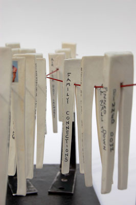 words works; clothes pin project with donna price; march 2009; © Juliane Leitner