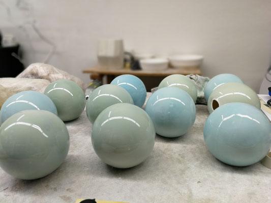 Porzellankugeln für Lampen © Juliane Leitner 2019