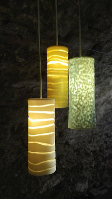 lucerna cylindrus [Zylinderlampe]; Porzellan bei 1240°C gebr. | lucerna cylindrus [cylinder lamp]; porcelain fired by 1240°C  © 2017 created by Juliane Leitner