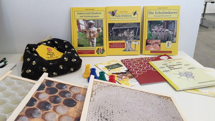 Maltataler Lehrbienenstand: Fotorähmchen vom Inneren des Bienenstocks