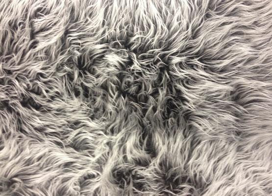 Zottelplüsch grau/ silber (Langhaar- 5cm) !Unsere Empfehlung!