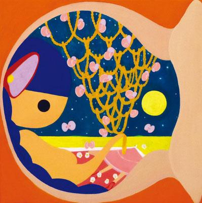 海のおみやげ 山のおみやげ 15-02 キャンバスにアクリル 30.0×30.0cm 2015