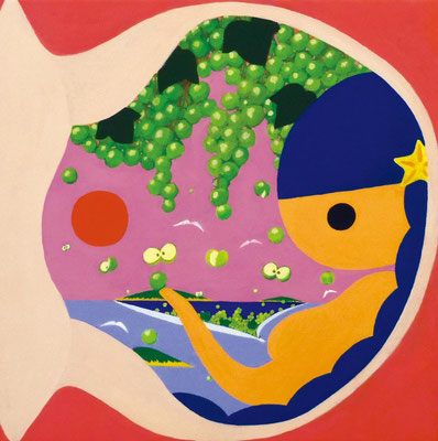海のおみやげ 山のおみやげ 15-01 キャンバスにアクリル 30.0×30.0cm 2015
