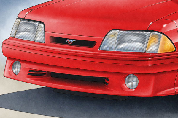 Headlights and front grills are drawn in all details