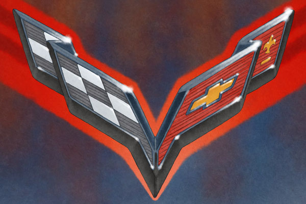 The C7 Corvette background emblem is take place beautifuly