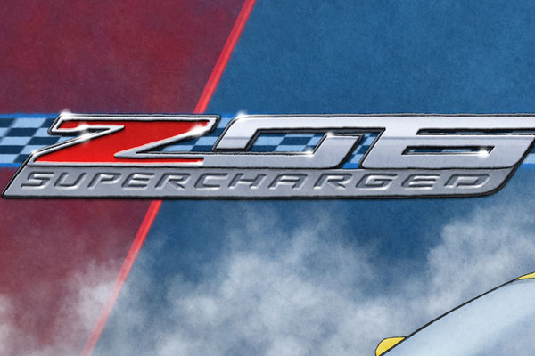 Z06 background emblem pays tribute to this special Corvette