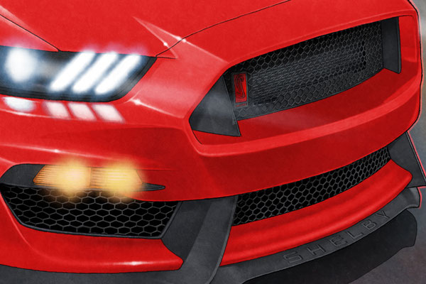 The front grills are drawn in high details, like to have the radiator added