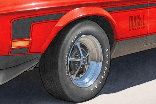 Le lettrage de pneu peut être changer afin de s'harmoniser avec celui de votre Mach 1