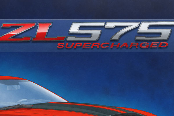 The SLP ZL575 Supercharged lettering is also nicely drawn for a more realist look