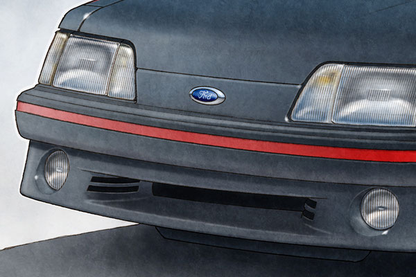 Front headlamps are drawn with high level of details