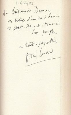 Envoi autographe Aimé Césaire