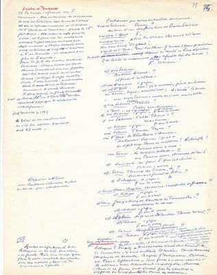 Abel GANCE (1889-1981) cinéma manuscrit autographe signé dialogue