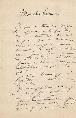 Jules Breton, lettre autographe signée