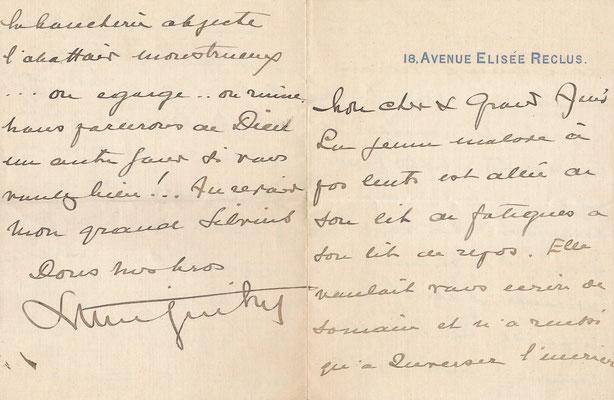 Lucien GUITRY  lettre autographe signée théâtre  Frédéric FEBVRE (1833-1916)