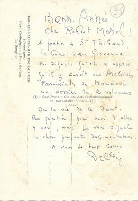 Joseph DELTEIL Robert Morel  édition éditeur carte autographe signée