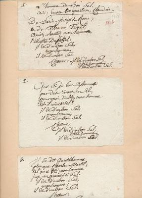 chevalier de PIIS chanson autographe signée Le Caveau moderne ou le Rocher de Cancale