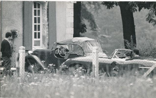 Françoise Sagan, photographie avec sa voiture