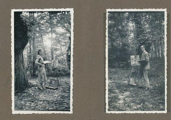 snapshot amateur homme et femme se peignant mutuellement