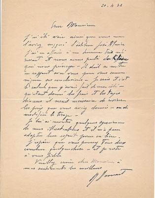 Raphael Drouart  Drouart est allé voir l'éditeur José Almira lettre autographe signée