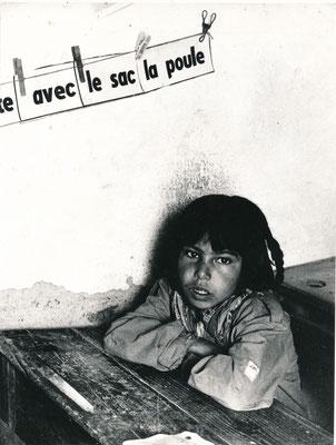 photographie de Charles Henneghien, enfant à l'école