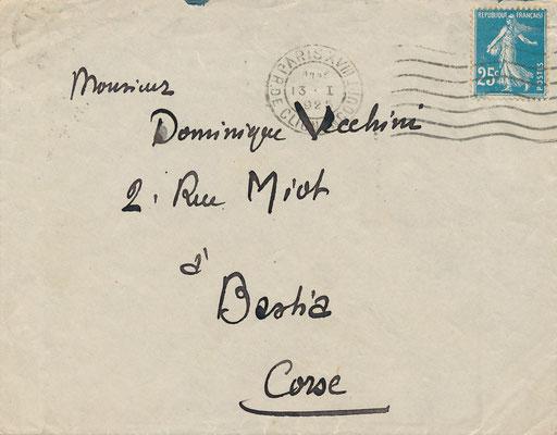 enveloppe autographe Johan Rictus
