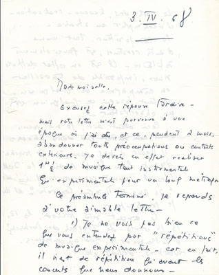 Bernard Parmegiane lettre autographe signée