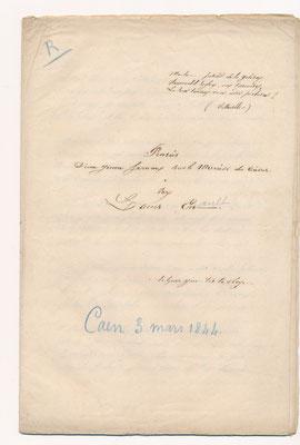 Louis Enault : manuscrit autographe (?)