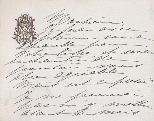 Madeleine LEMAIRE (1845-1928) carte autographe signée