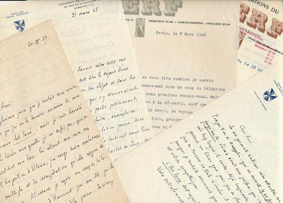Paul Régamet, correspondance autographe signée