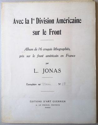 Avec la 1re division américaine sur le front Lucien Jonas lithographie