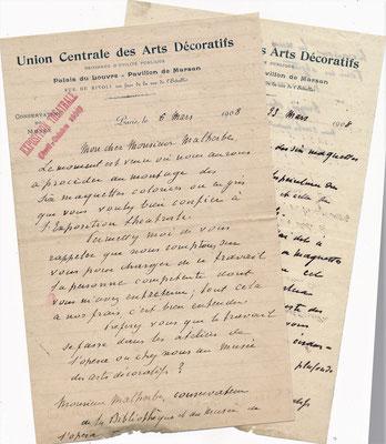 Georges BERGER lettre autographe signée