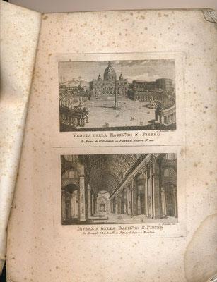 Nuova raccolta delle principali vedute antiche e moderne dell' alma citta di Roma e sue vicinanze.