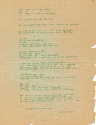 Marcel CHABOT poète poésie Mon petit dieu de bronze