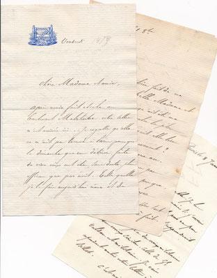 Charles Duclerc, correspondance avec la comtesse de Beaumont