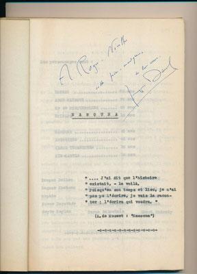 Jacques Deval, envoi autographe